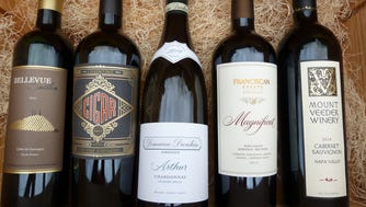 Bellevue Seillan, 2011, $29. Cigar Old Vine Zinfandel, 2015, $20. Domaine Drouhin Oregon Chardonnay Arthur, 2014, $35. Franciscan Estate Magnificat, 2013, $55. Mount Veeder Winery Cabernet Sauvignon, 2014, $44.