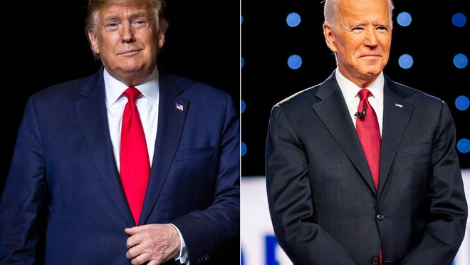 President Donald Trump trails former Vice President Joe Biden in the latest poll of Ohio registered voters.Trump Biden