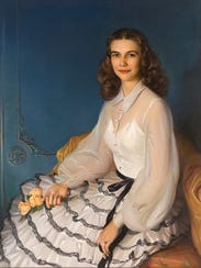 An oil painting of Margaret Norton, created by Bjorn