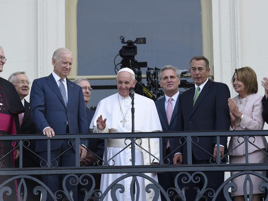 Pope Francis, Joe Biden, Harry Reid, Mitch McConnell, Kevin McCarthy, John Boehner, Nancy Pelosi, Donald Wuerl