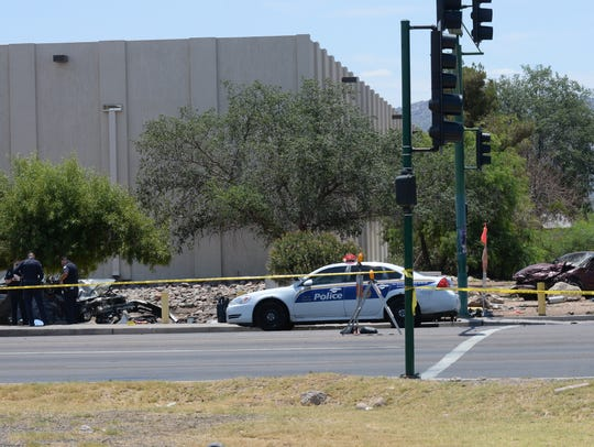 A car crash with double fatalities happened on Broadway