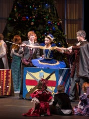 Taylor Winer, left, Bethany Heddin and Freddy Ortiz are featured in last year's production of 'The Nutcracker' by the Mann Dance Academy Inc.