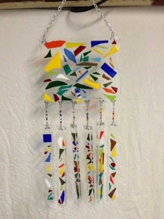 how to make glass wind chimes