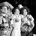 """FILE - In this Oct. 4, 1977 file photo, Diana Ross, center, as Dorothy, Michael Jackson, right, as Scarecrow, and Nipsey Russell as Tinman, perform during filming of the musical """"The Wiz"""" in New York's World Trade Center. Ted Ross, portraying the Lion, is partly hidden behind Russell. NBC will air a Dec. 3, 2015 live production of the 1970s stage reinvention of """"The Wizard of Oz,"""" and Cirque du Soleil's new stage theatrical division will present """"The Wiz"""" on Broadway for the 2016-17 season. (AP Photo, File)"""