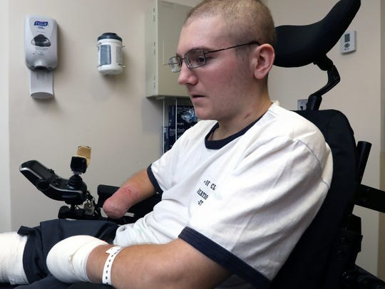 New City firefighter Willy McCue is starting rehabilitation
