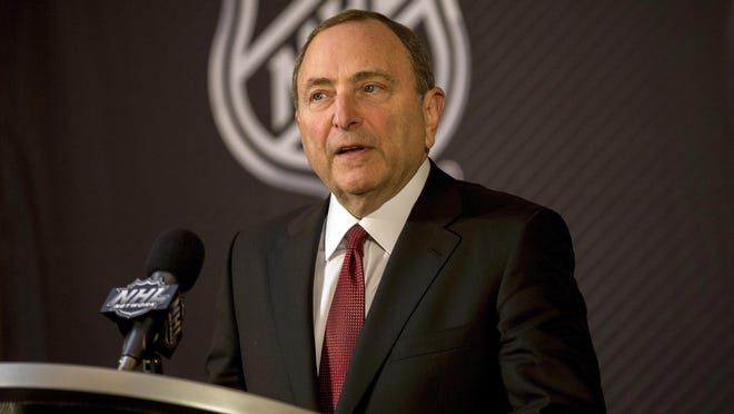 NHL commissioner Gary Bettman said Tuesday that the league is considering having games played at neutral sites.