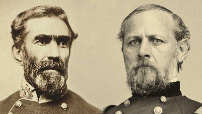 Confederate Gen. Braxton Bragg (left) and Union Gen. Don Carlos Buell.