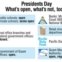 What's open/closed on Feb. 15.
