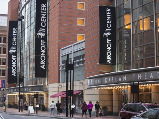 February 25, 2017: Aronoff Center, theatre, downtown Cincinnati, Stanley Aronoff, Liz Dufour