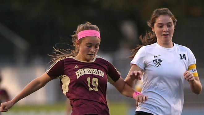 Brebeuf's Hallie Pearson leads the team in goals this season with 14.