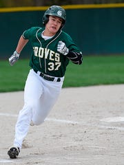Senior Evan Gilman provides Groves with both outfield