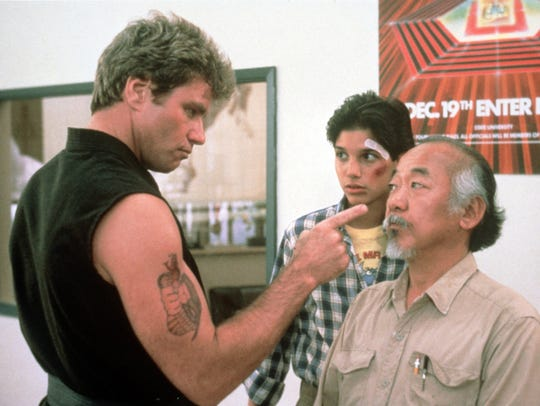 John Kreese (left, Martin Kove) was a formidable for