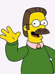 """Ned Flanders, as he appears on """"The Simpsons."""""""