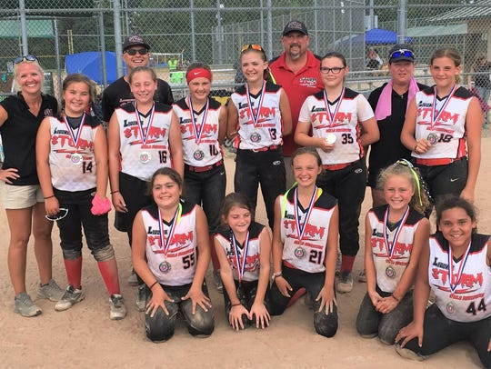 The 10-and-under Livonia Storm recently competed a