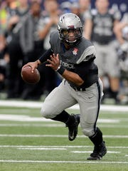 Air Force quarterback Arion Worthman threw for two