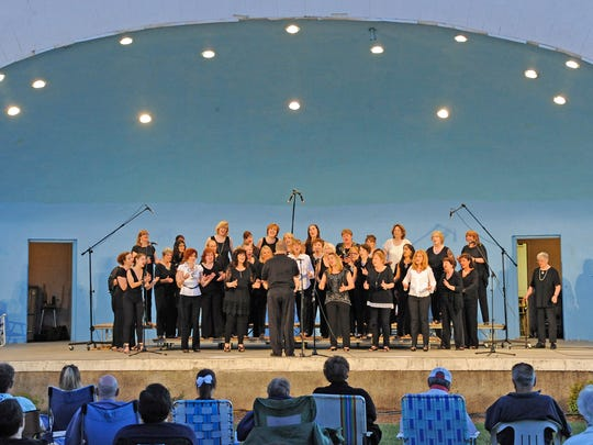 The Harmony Celebration Chorus performs last year at the Shell Concert at Kasschau Memorial Shell in Ridgewood.
