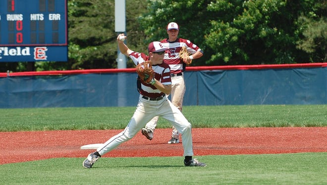 Eastern shortstop Steve Love fires to first for an out in Saturday's victory over Cherry Hill West in a Diamond Classic quarterfinal.