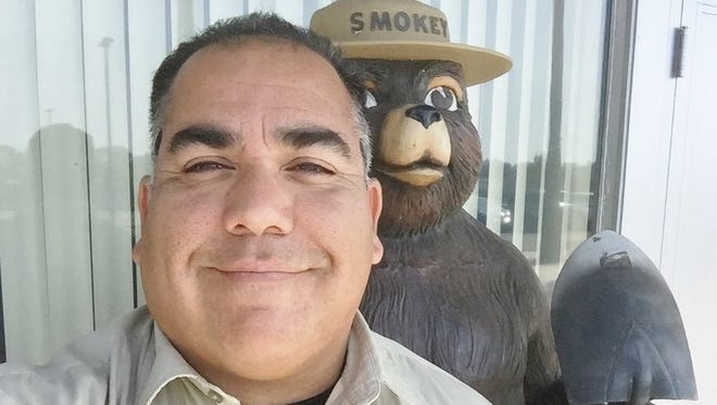Tony Martinez, shown in the photo, has been appointed Mount Pinos district ranger.