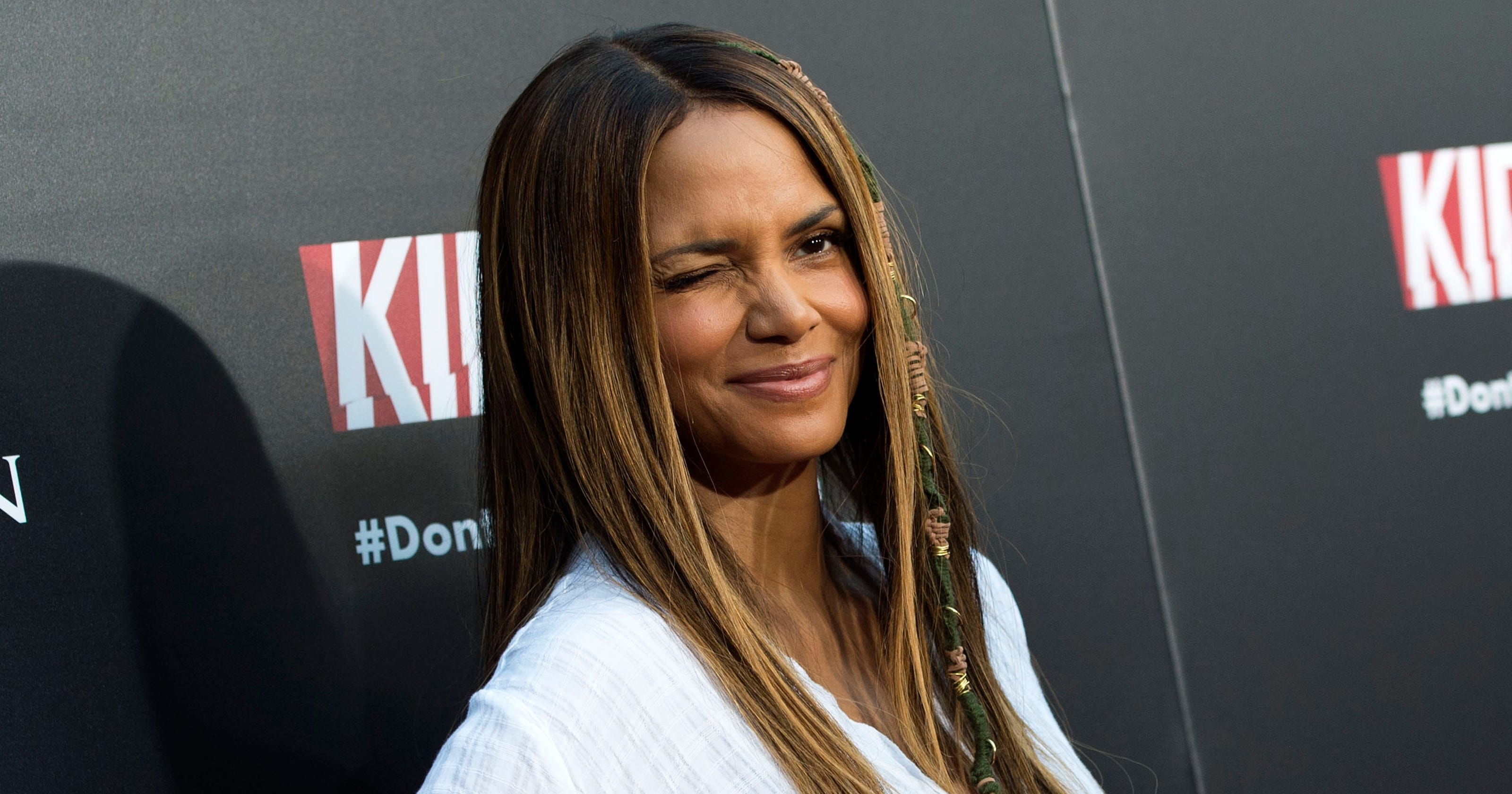 c7073a9d5dcae Halle Berry brings back the  90s hair wrap and we are shrieking with  excitement