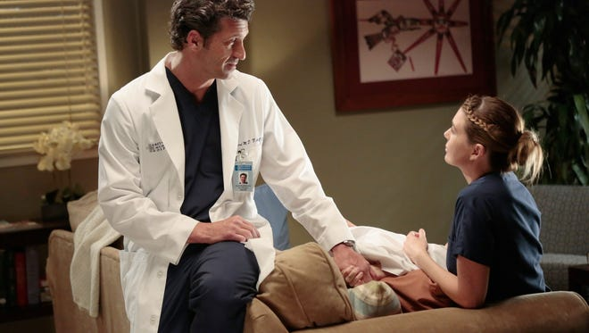 Patrick Dempsey and Ellen Pompeo on ABC's  'Grey's Anatomy'