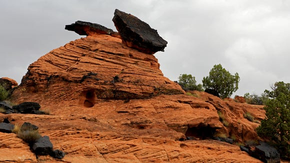 Fascinating rock formations can be found along the Three Ponds Trail in Snow Canyon State Park.