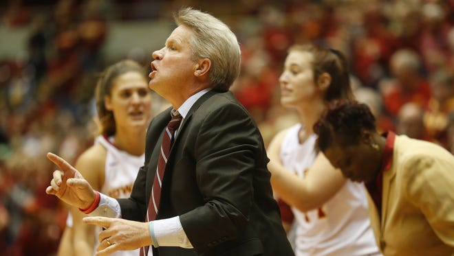 """Iowa State women's basketball coach Bill Fennelly called this season the """"toughest"""" he's been through. With three games remaining this year, ISU is 13-13 overall and 5-10 in the Big 12 Conference"""