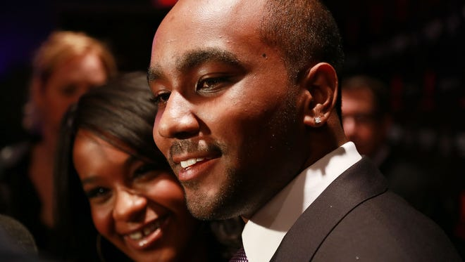 Bobbi Kristina Brown and her former boyfriend, Nick Gordon, in October 2012 in New York.