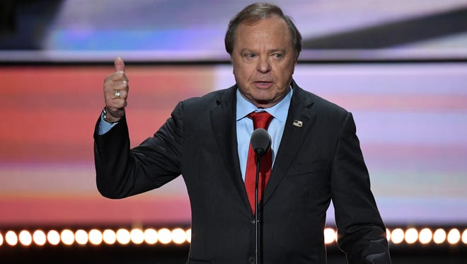 Harold Hamm at the 2016 Republican National Convention at Quicken Loans Arena in Cleveland.