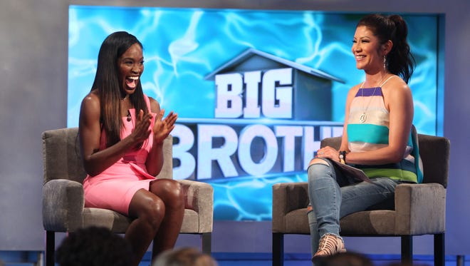 """University of Tennessee alumna Dominique Cooper talks with """"Big Brother"""" host Julie Chen after she was eliminated on the show."""