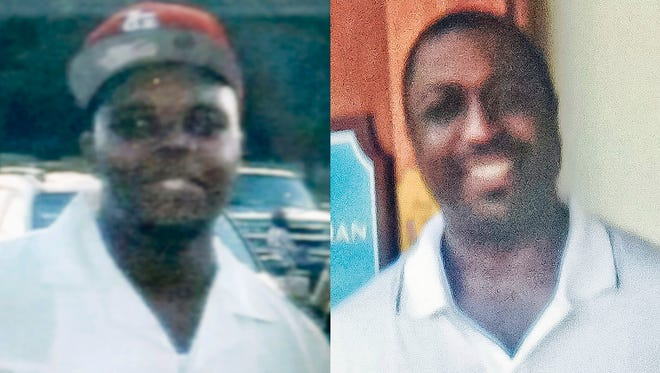 This combination of undated photos provided by the Brown family and the Garner family via the National Action Network shows Michael Brown, left, the black 18-year-old who was fatally shot by a white police officer in Ferguson, Mo. in August 2014, and Eric Garner, who died after a white police officer had him in a chokehold in the Staten Island borough of New York in July 2014.