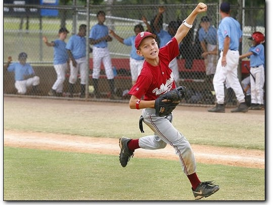 Holton in the 2006 Dizzy Dean World Series at the age of nine.