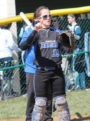 Senior Maggie Block is a steady force at catcher for