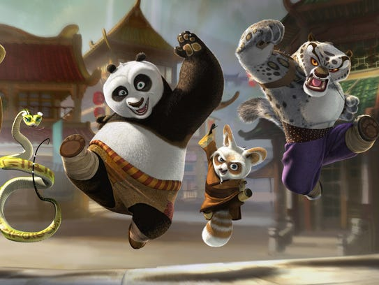 "A scene from DreamWorks Animation's ""Kung Fu Panda."""
