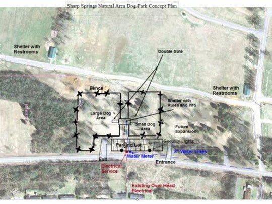 Site plans for Bark Springs at Sharp Springs Natural Area in Smyrna.