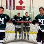 Leading the way for Novi's hockey team this season are (from left) Brendan Wexler, Brad Hofelich, James Hole and Nik Tewilliager.
