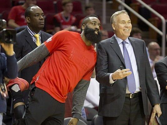 USP NBA: DETROIT PISTONS AT HOUSTON ROCKETS S BKN HOU DET USA TX
