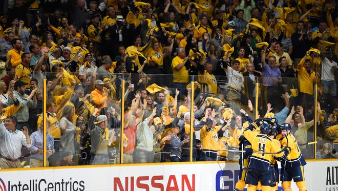 The Predators open the 2016-17 season Oct. 14 against the Blackhawks at Bridgestone Arena.