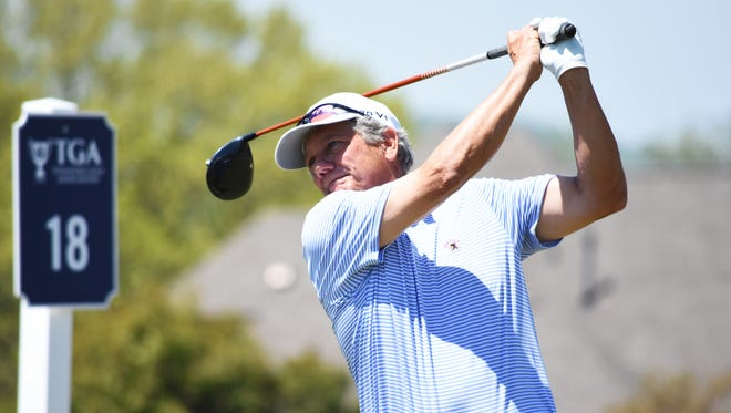Williston's Tim Jackson shot a one-under, 71, on Tuesday to lead the opening round of stroke play qualifying for the Tennessee Senior Match Play Championship at The Club at Fairvue Plantation in Gallatin, Tenn.