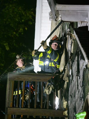House fire at 17 Roan Court in Brockton on Thursday, Nov. 5, 2020.