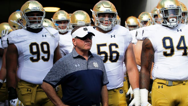 Notre Dame coach Brian Kelly's 2017 recruiting class has largely held together.