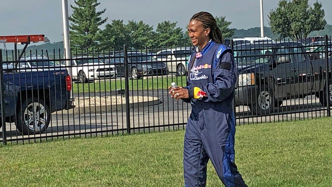 Tamika Catchings heads -- nervously -- for her ride Wednesday.