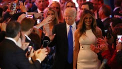 The Trumps in New York on May 3, 2016.