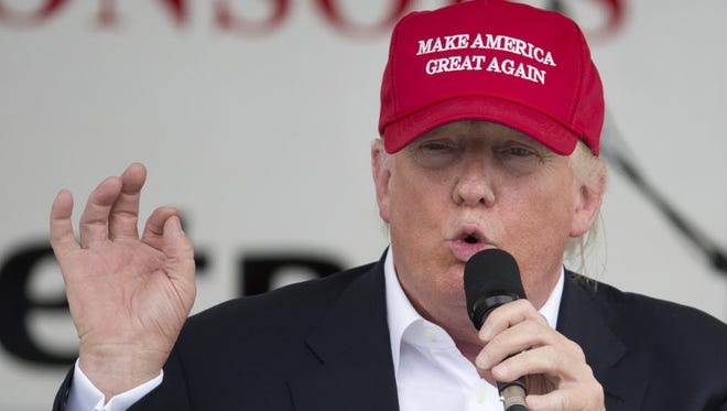 Donald Trump at a Rolling Thunder rally at the National Mall, Washington, D.C., May 29, 2016.