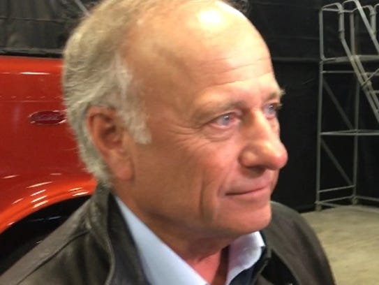 Rep. Steve King, R-Kiron, talks with reporters Friday,