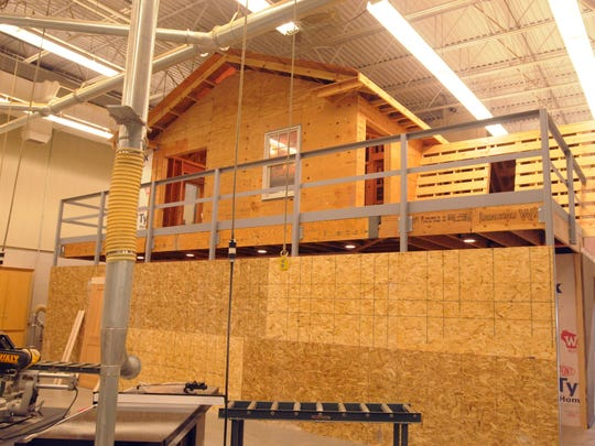 A building built inside the construction program at