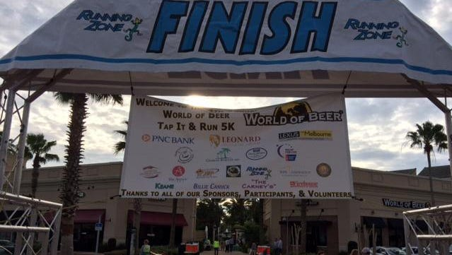 The finish line of the 2015 World of Beer Tap it and Run 5K.