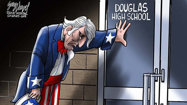 America grieves another school shooting. Douglas high school in Parkland, Florida in Broward County Florida.