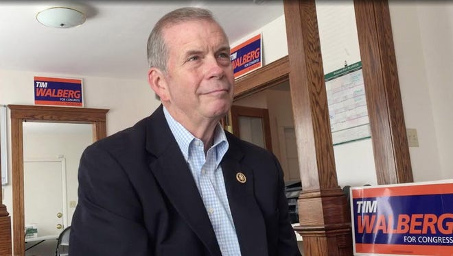 U.S. Rep. Tim Walberg, R-Tipton, seeks re-election in the 7th Congressional District.