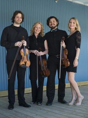 Emil Ivanov, Lauren Baker, Miguel Ochoa, and Iya Tsyrkot of the Acadiana Symphony Orchestra.