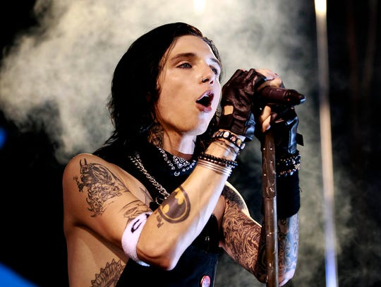 Black Veil Brides perform during the Vans Warped Tour
